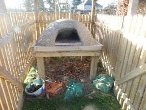 Our cob oven for outdoor cooking